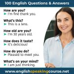 100 English questions and answers for Speaking English fluently
