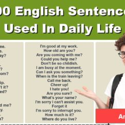 100 English Sentences Used In Daily Life English Sentences For Daily Use