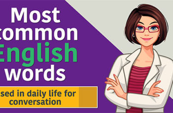 Daily use English words for conversation