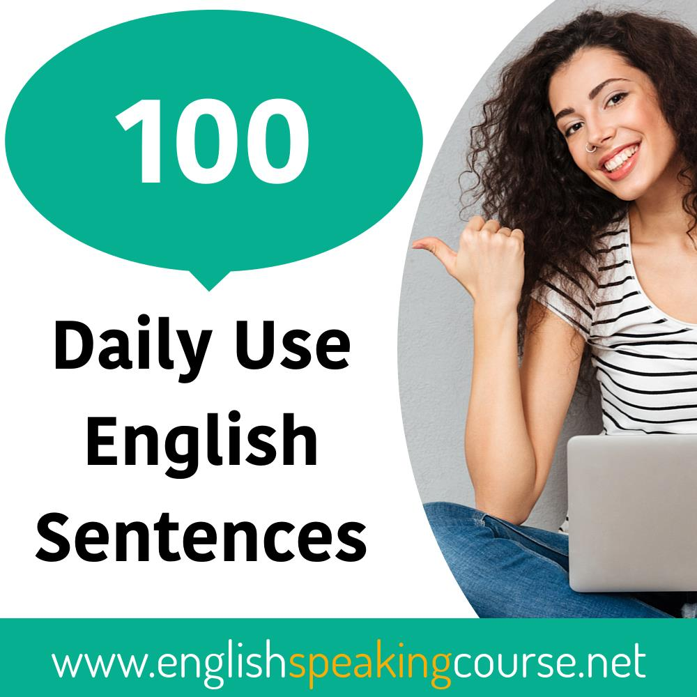 100 Daily Use English Sentences for child