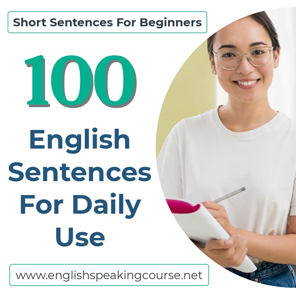 100 English Sentences For Daily Use