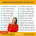 50 Useful Sentences For Daily Use