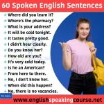60 English sentences used in daily life
