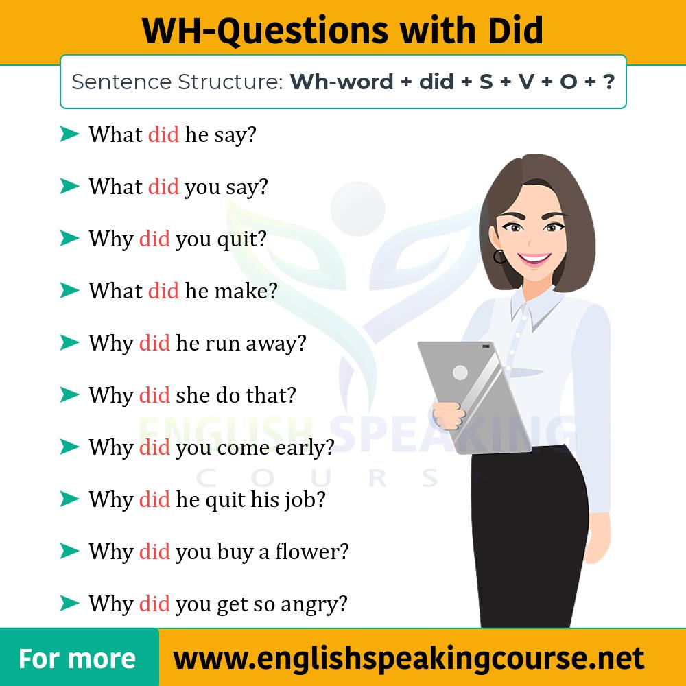 Correct use of Did in English How to Use Did in English grammar -02