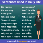 100 English sentences for daily use,