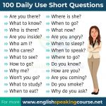 Daily use short Questions